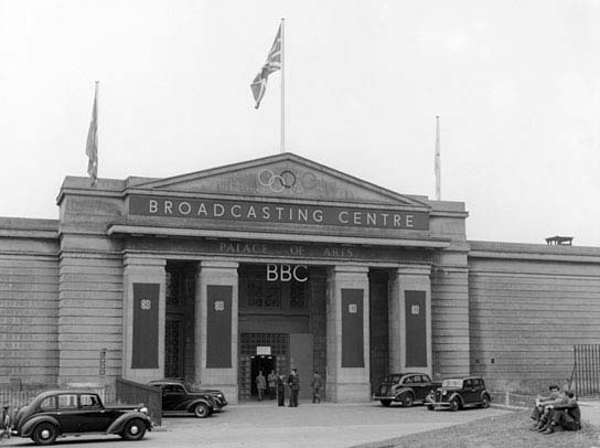 The BBC Broadcasting Centre for the 1948 Olympics at Wembley