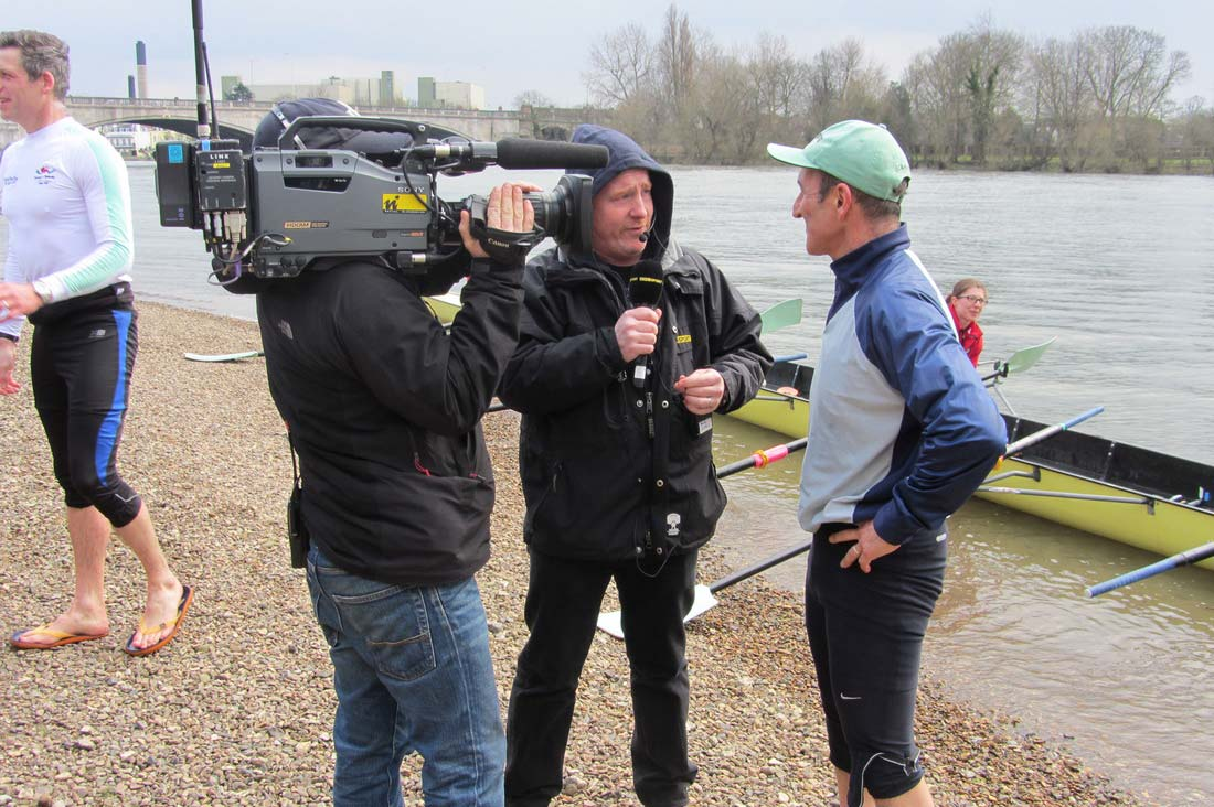 Boat race TV interview