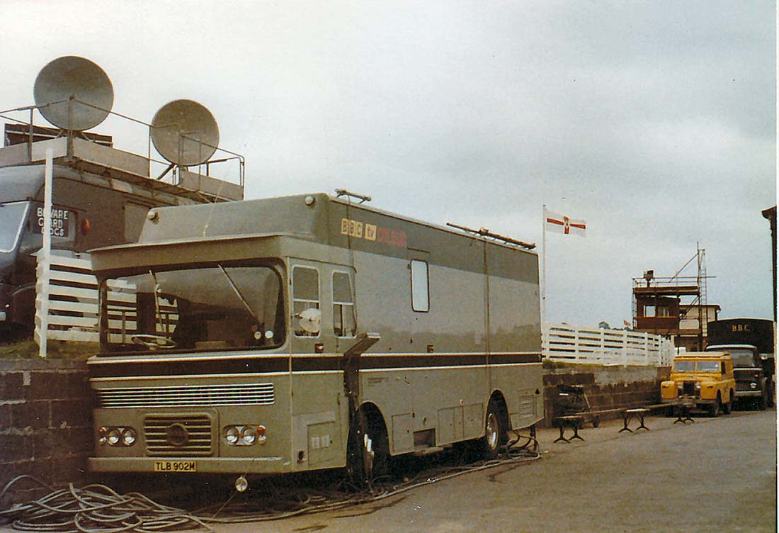 CMCR 14 on-site at the Balmoral Show, Lisburn, in 1975. Note the original registration.