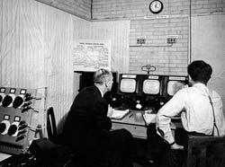 Control Room in Broadcasting Centre for Stadium