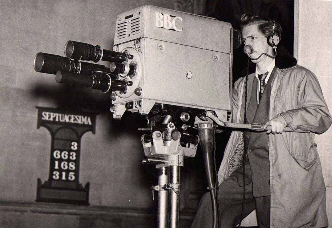 Don Mackay with a Marconi Mk 18