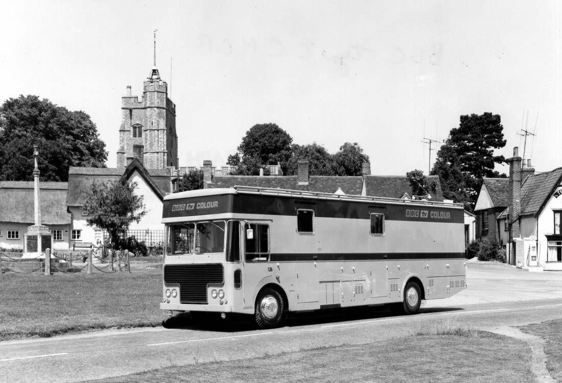 A brand new, unregistered Type-2 CMCR at Lavenham, Suffolk 1969 - photo courtesy of Richard Ellis - The Pye TVT Story.