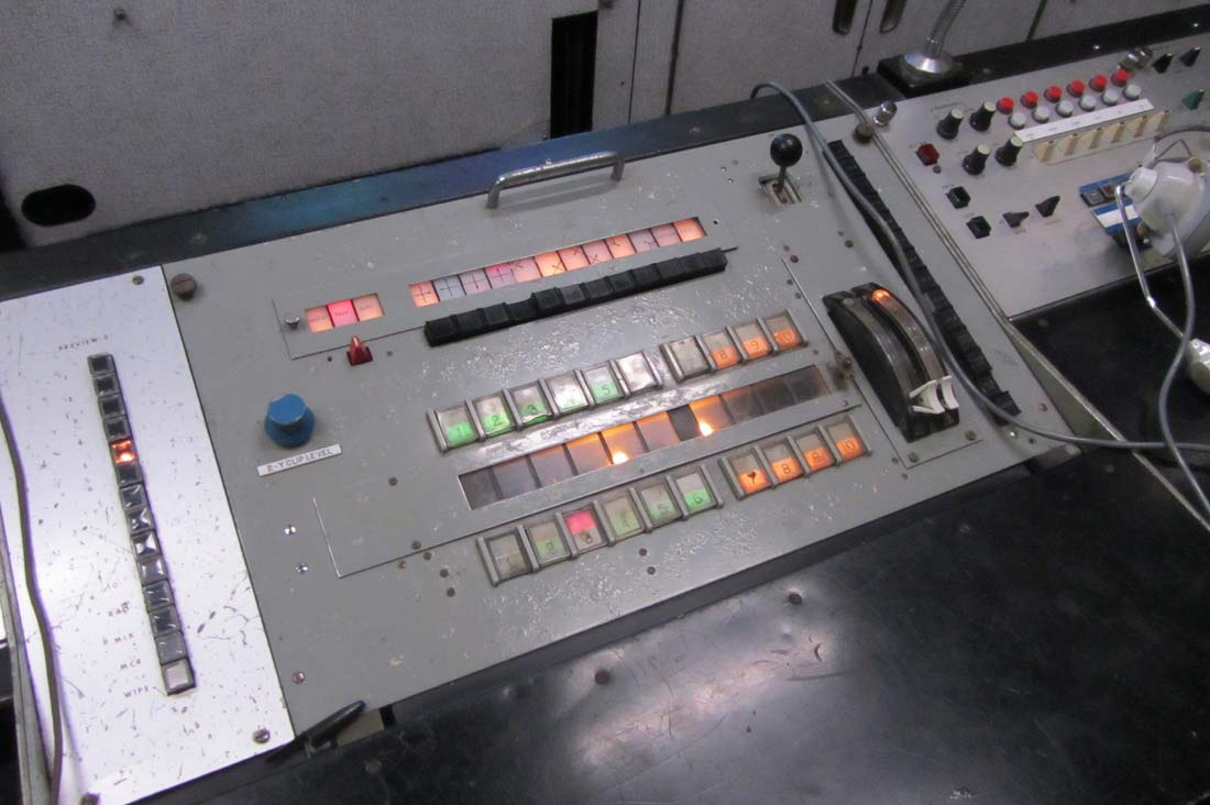 The 10-channel BBC Vision Mixer panel