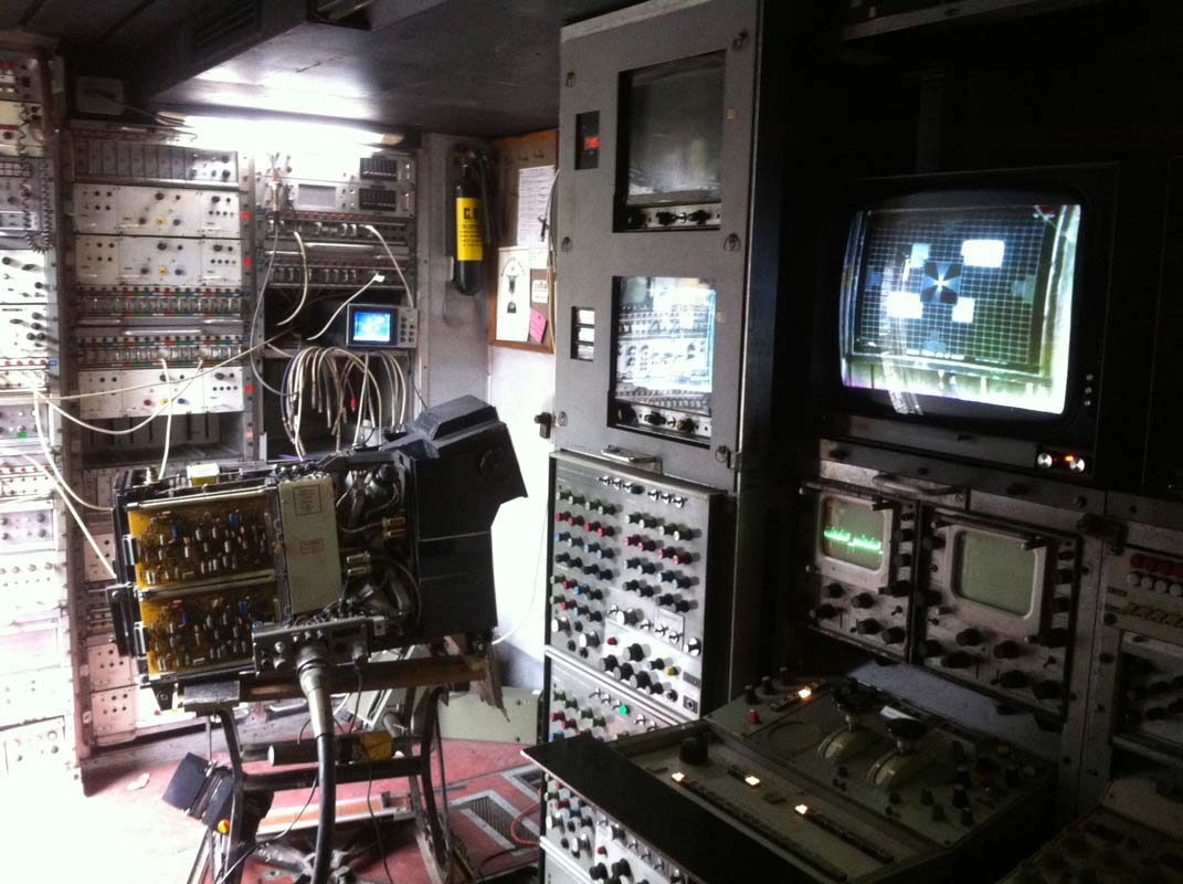 The rig for the first EMI 2001 switch-on in the VCR