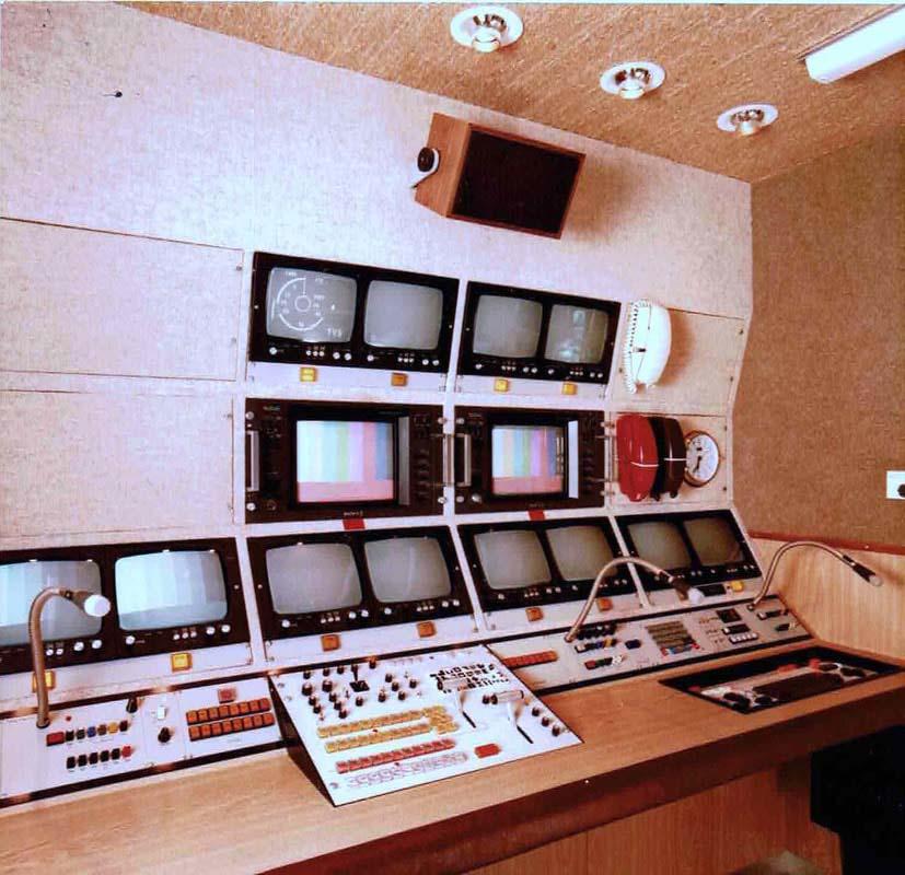 TVS Outside Broadcast Unit 12 interior